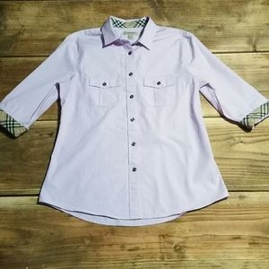 Authentic Burberry BRIT (M) Lavender button down